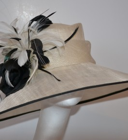 Ivory & Black Bound Hat