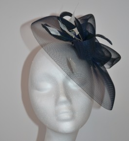 Dark Navy Lady Rose Headpiece