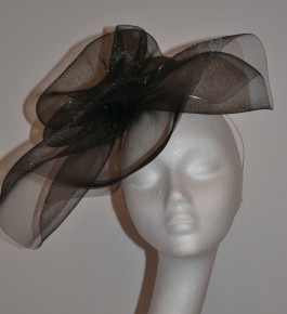 Black Large Crin Headpiece