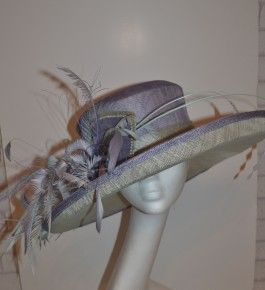 Lilac & Ivory Feather Hat