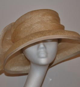 Soft Gold Back Bow Hat