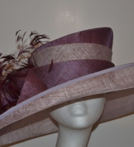 Purple & Lilac Aysymetric Hat
