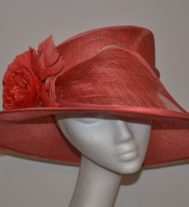 Orange Coral Rose Hat